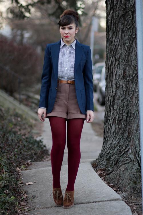 colored pantyhose shorts