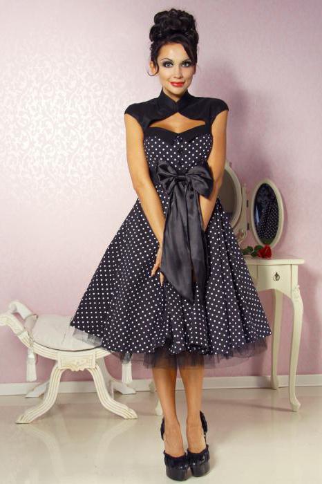 платье в стиле рок н ролл