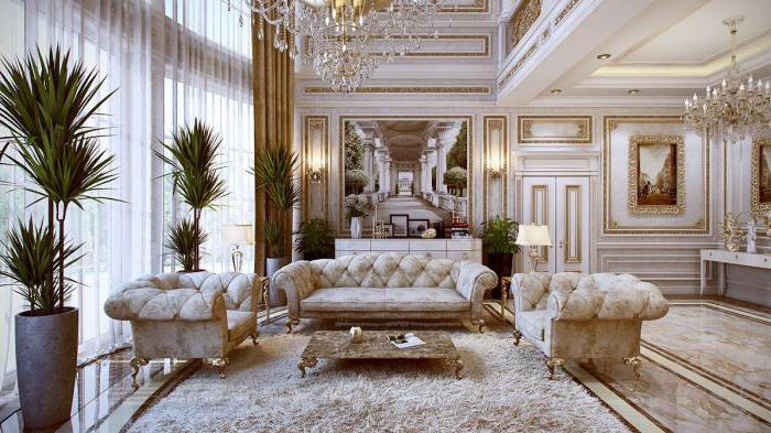 роскошные интерьеры в классическом стиле