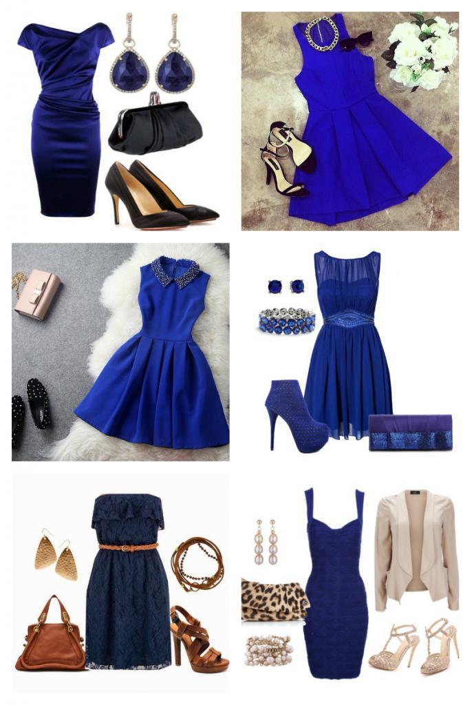аксессуары к темно синему платью фото
