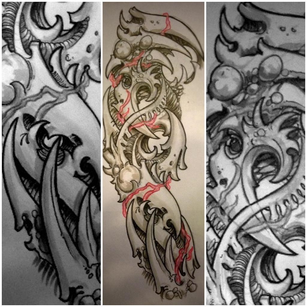 Эскиз татуировки-рукава
