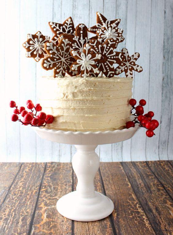 Украшение торта пряниками