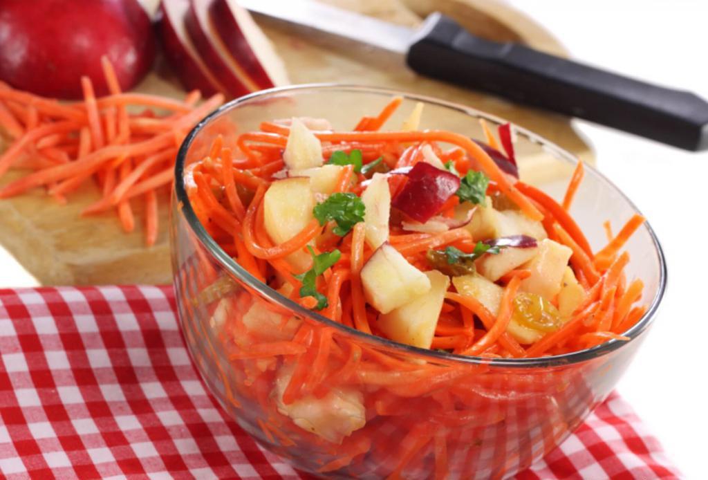 Картинка салат морковь и яблоко