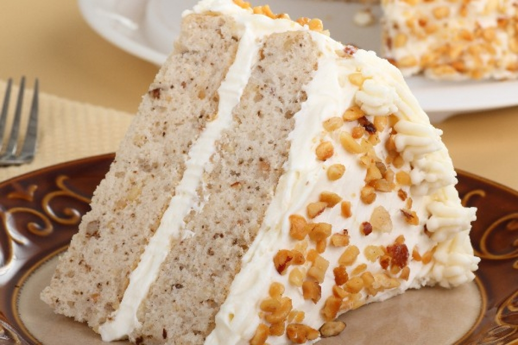 ready-made cake with nuts