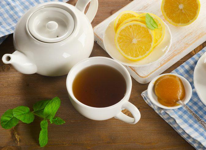 чай с лимоном для снижения температуры