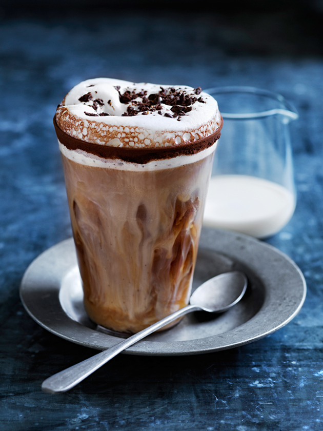high-calorie coffee with additives