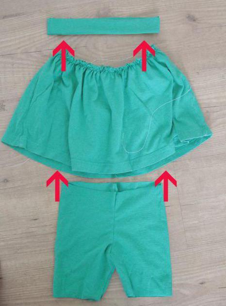 как из юбки сделать шорты