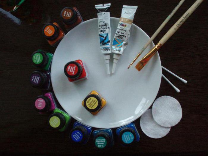 краска для керамики без обжига
