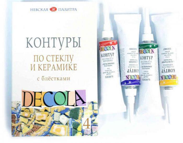 Запекаемые краски для стекла и керамики