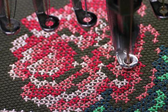 машинная вышивка крестом