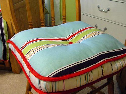 подушки на стулья своими руками
