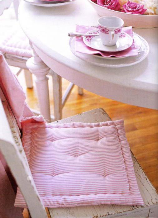 подушки на стулья своими руками фото выкройки
