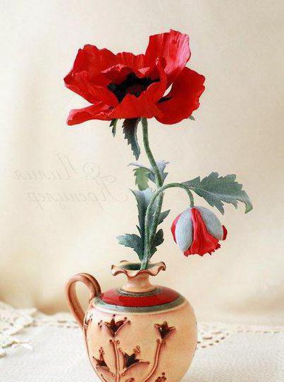 цветок мак из фоамирана