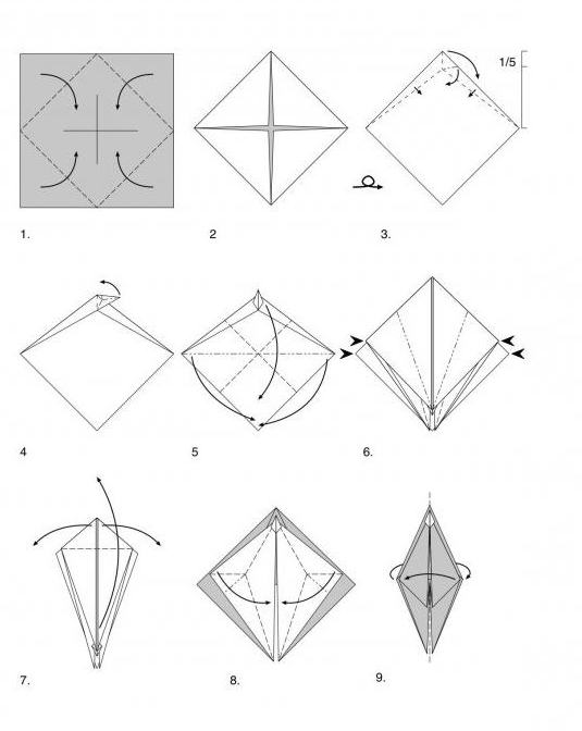 оригами схемы цветов для начинающих