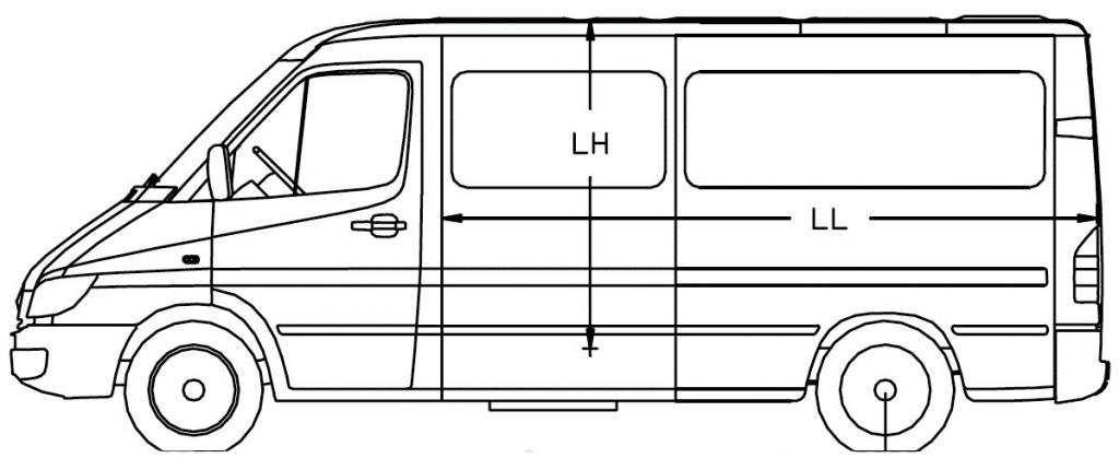 Размеры микроавтобуса
