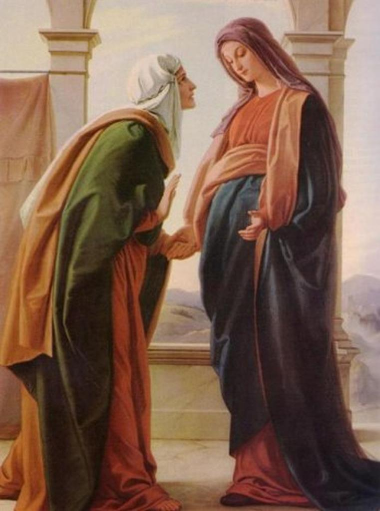 Virgin Mary and the Monk Elizabeth