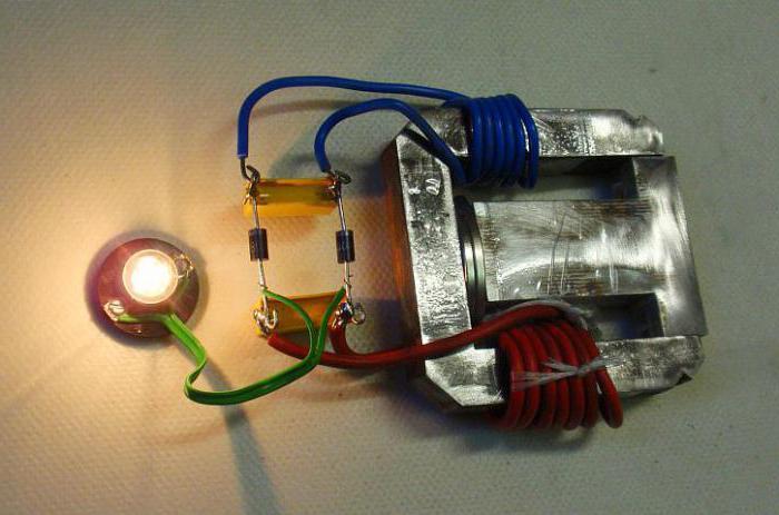 Генератор свободной энергии Тесла схема