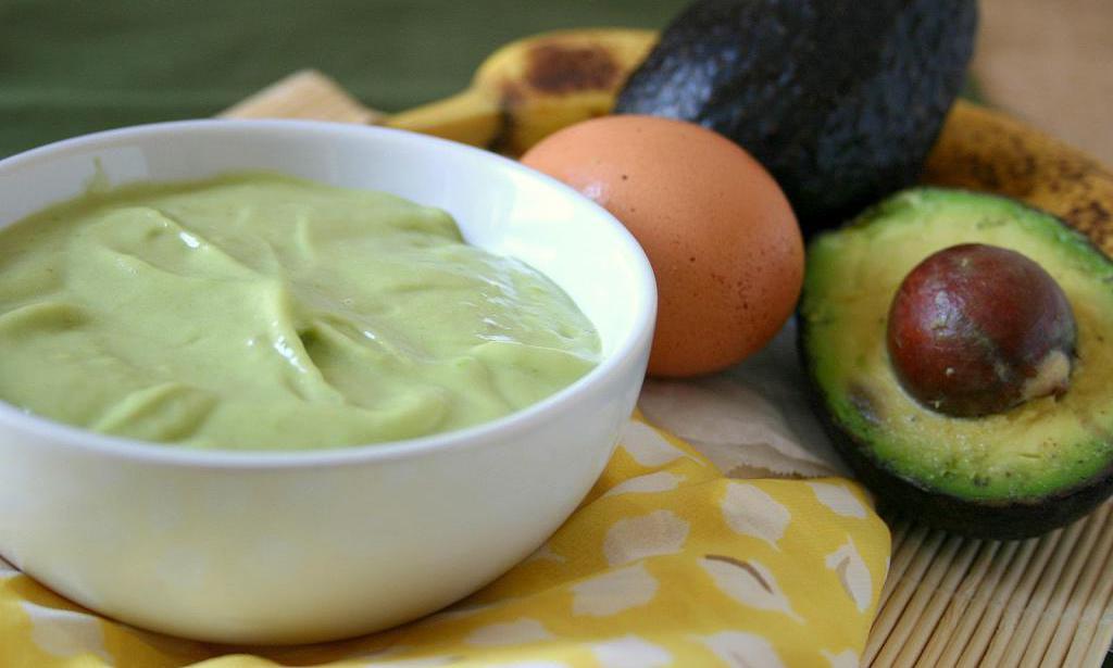 Маска с майонезом и авокадо