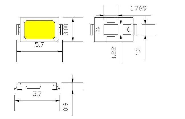 мощность светодиода 2835