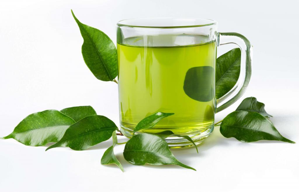 Зеленый чай бодрит,тонизирует