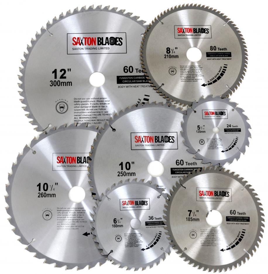 Пильные диски различных диаметров