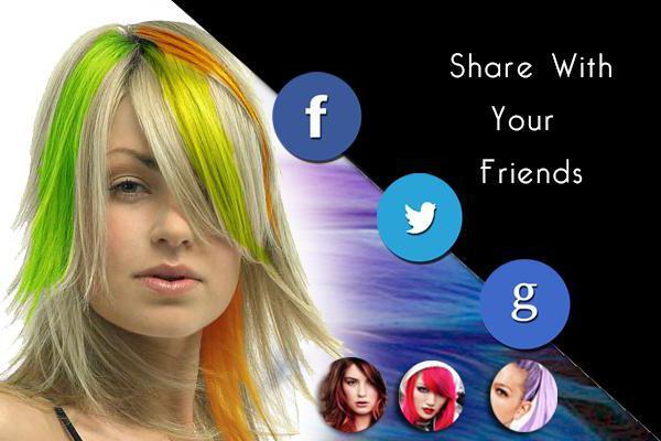 Приложение, которое мяняет цвет волос