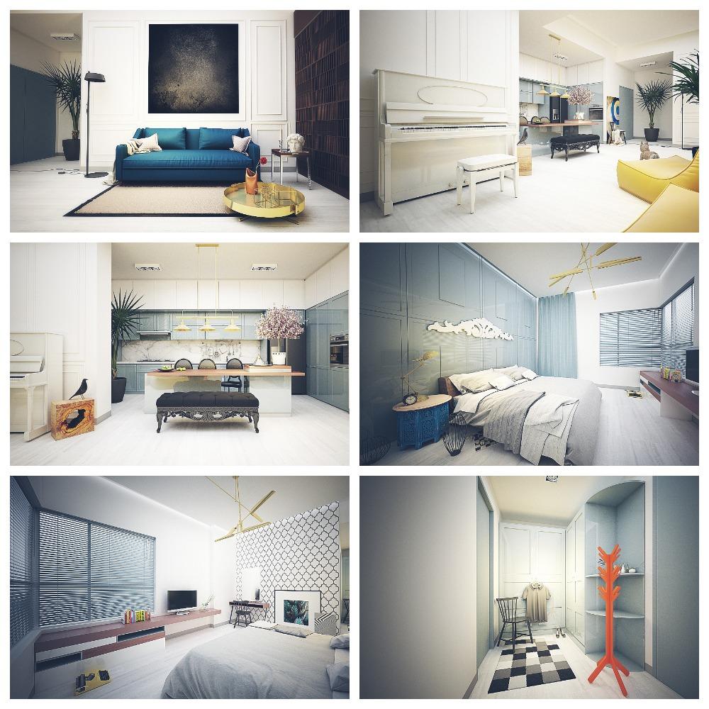 Art Deco style apartment
