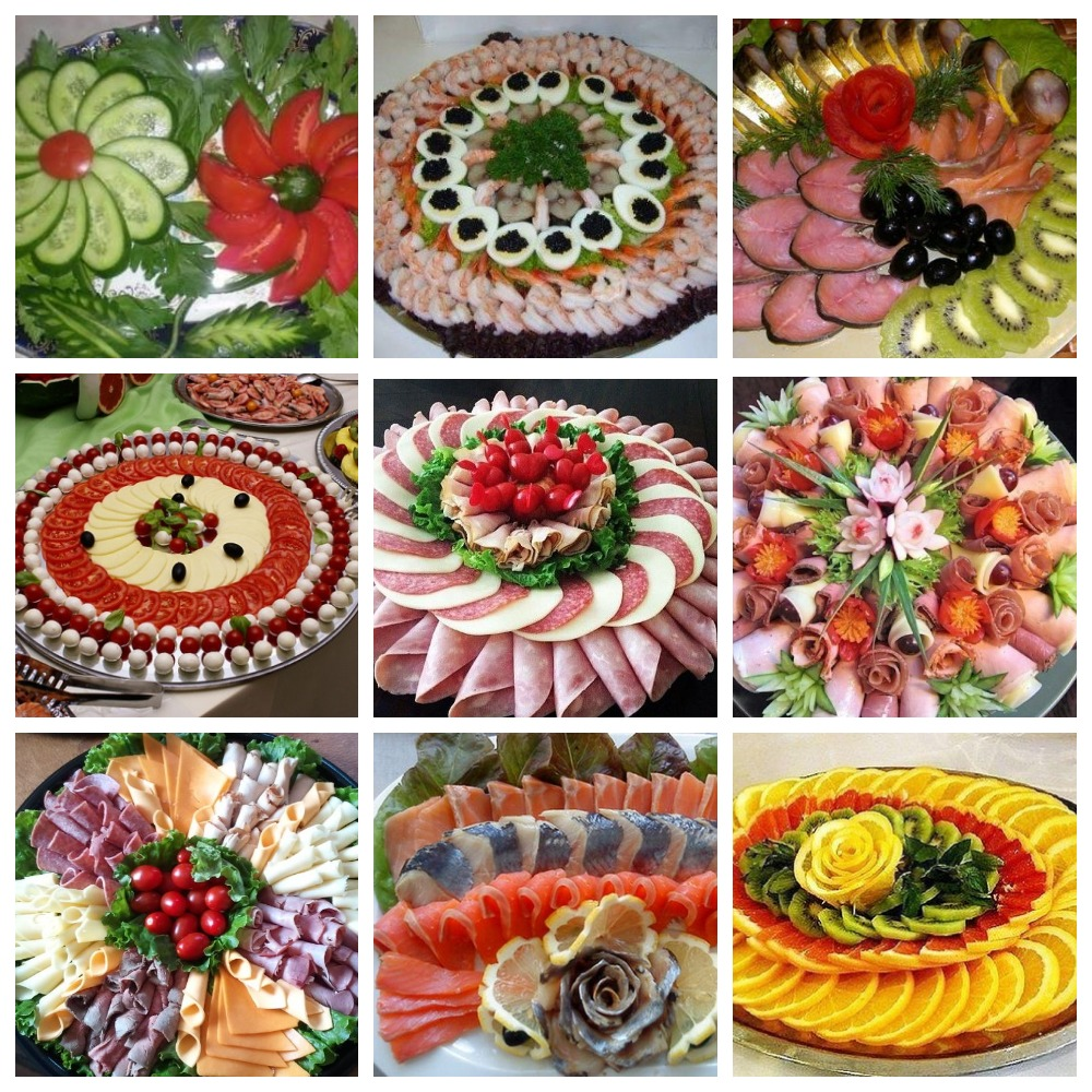 как украсить блюда на праздничный стол