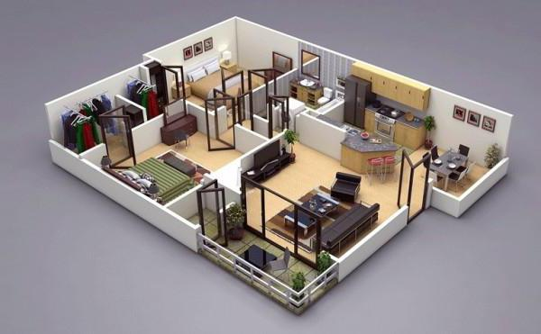 проекты квартир свободной планировки