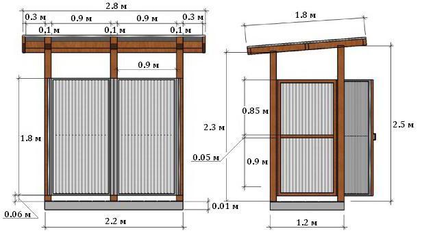 чертеж душевой кабины из поликарбоната