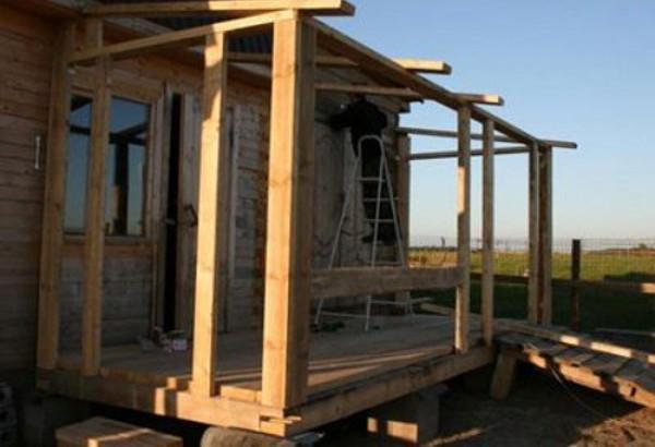 DIY veranda frame