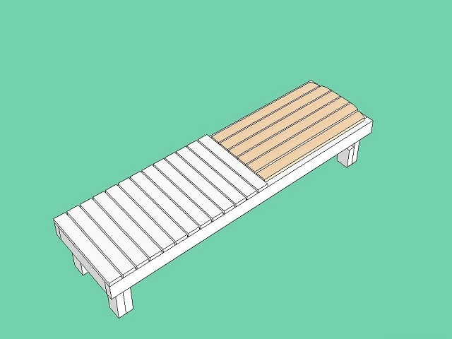 Do-it-yourself deck chair made of wood