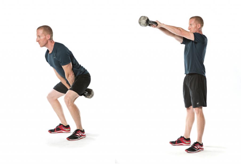фото упражнений с одной гирей коем случае
