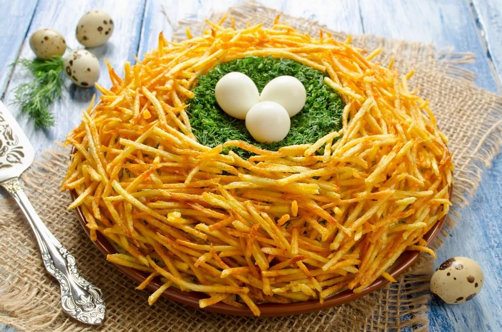 Capercaillie nest salad
