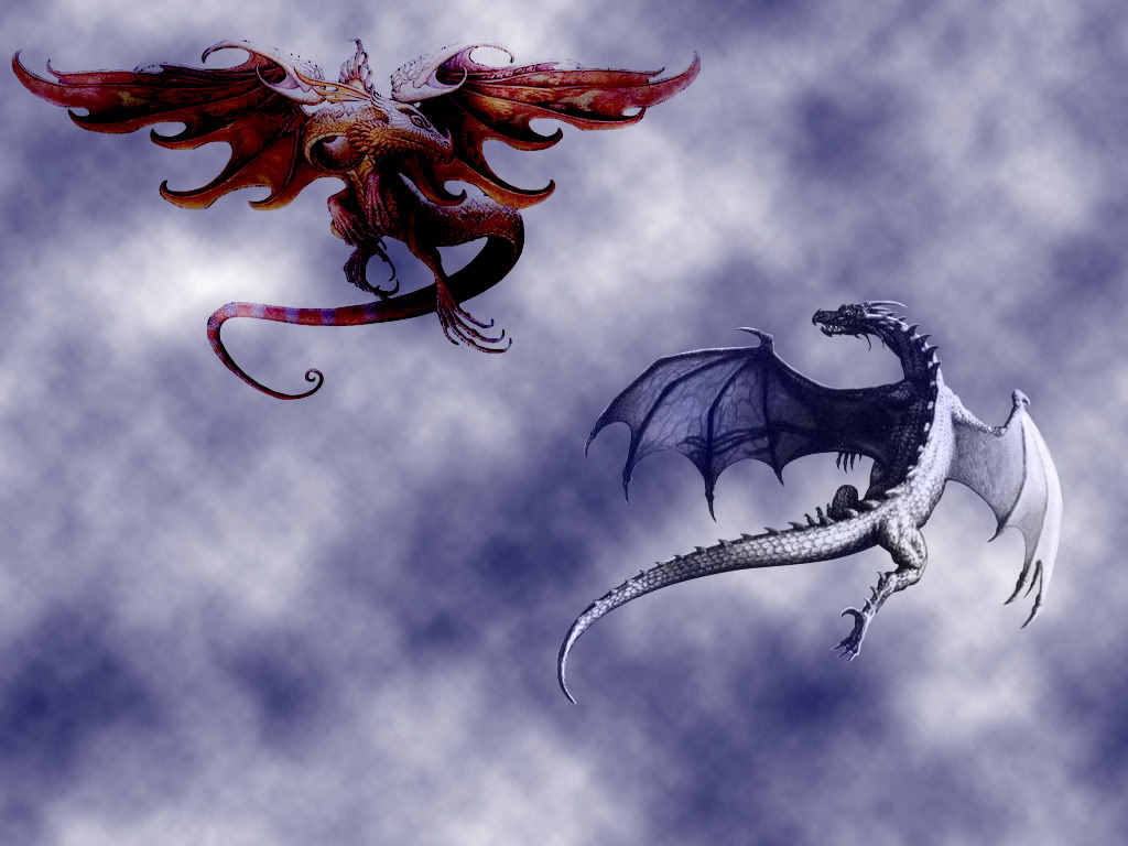 Fire vs ice dragon wallpaper  435703  hdweweb4com