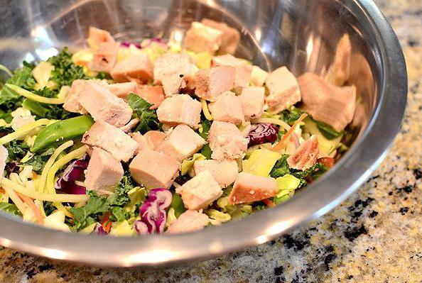 салат с копченой курицей простой рецепт