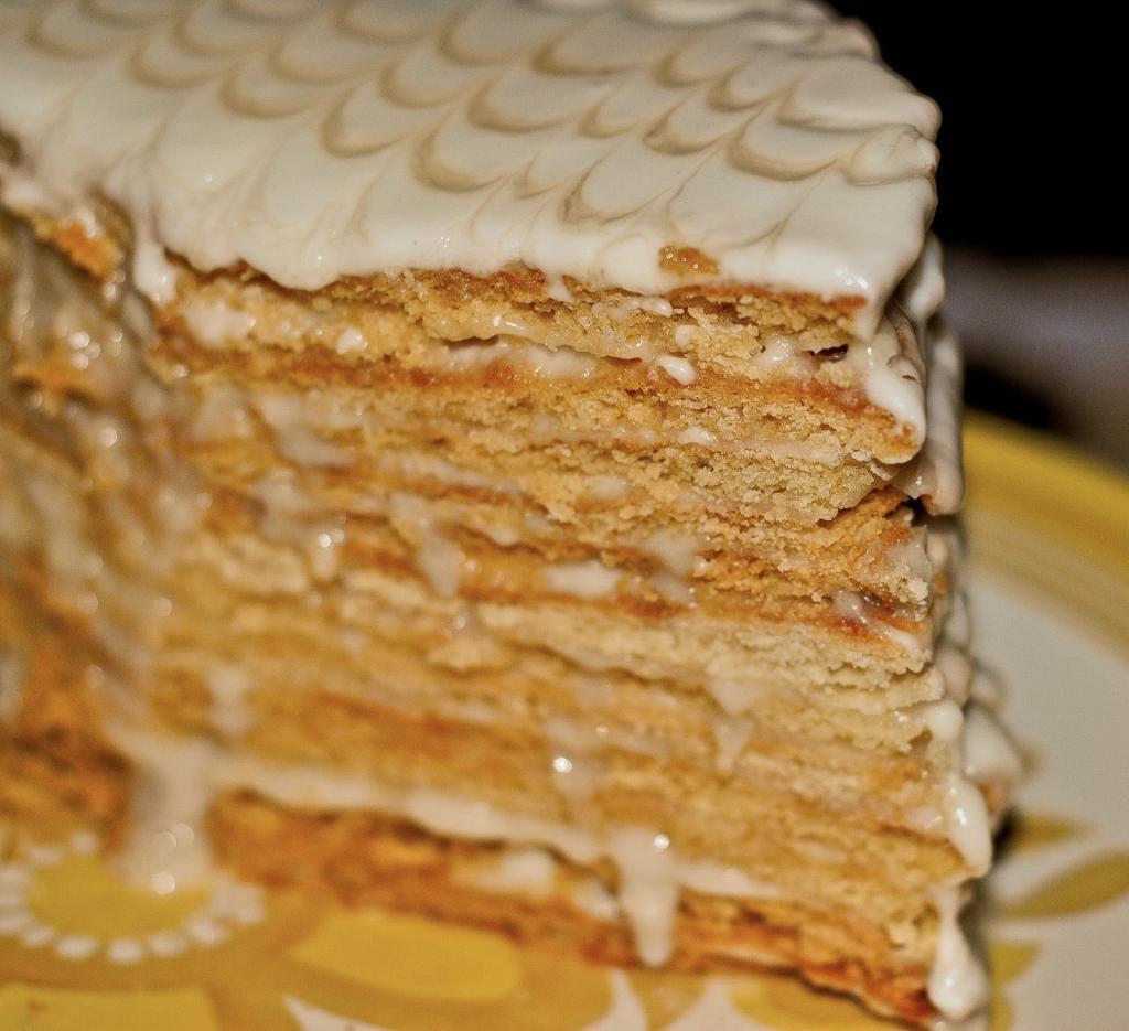 Торт медовик без яиц