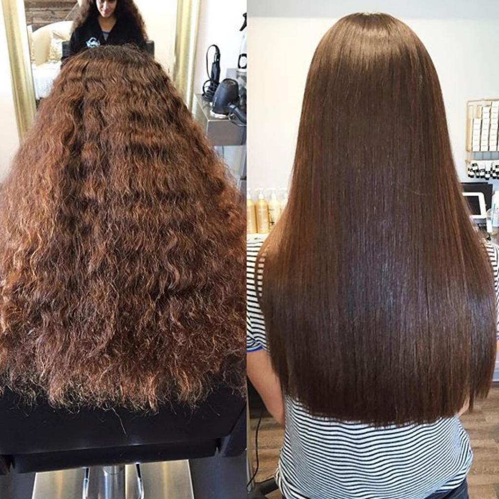 M: Customer reviews: Moroccan Keratin Most Pictures of brazilian blow dry before after