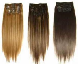 Цветные волосы на заколках