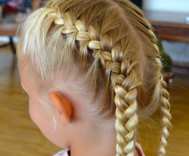 Фото заплести колосок для ребенка