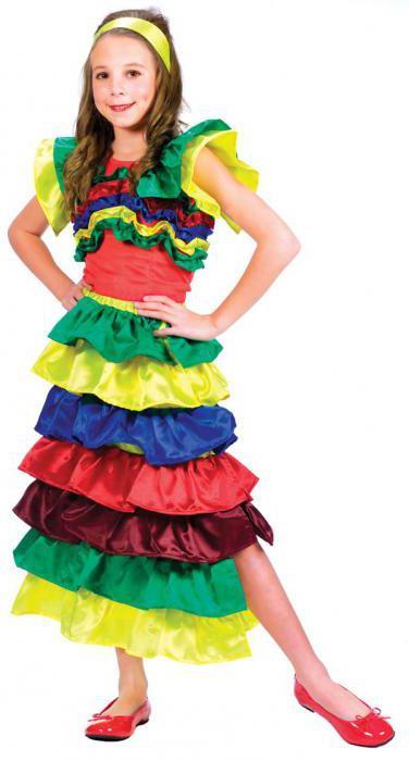 Бразильский костюм для девочки