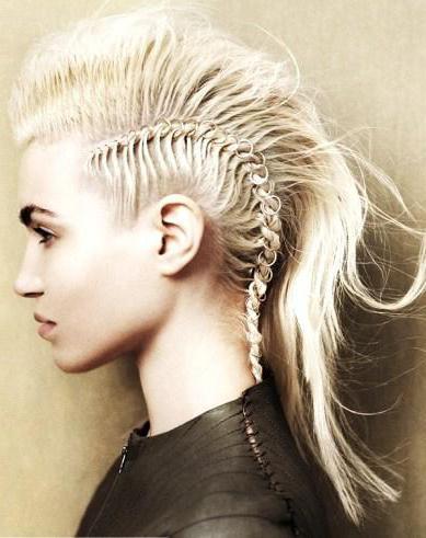 Прическа в стиле рок на средние волосы