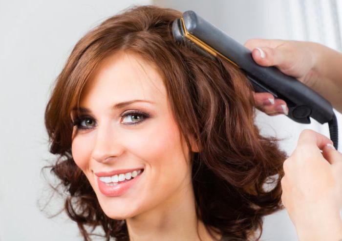 красивые локоны утюжком на средние волосы