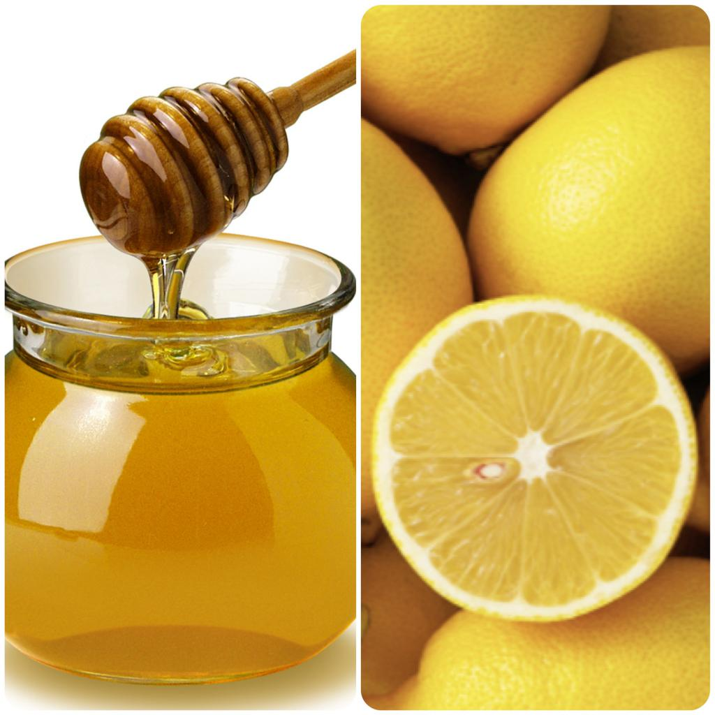Face mask with honey and lemon