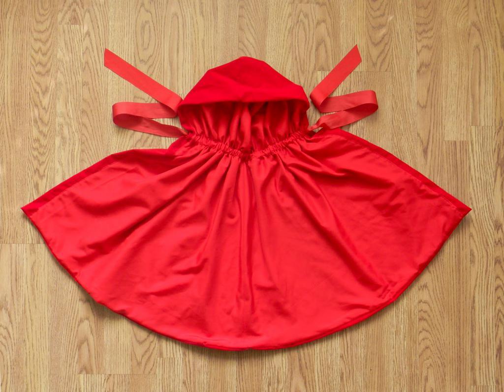 Костюм красной шапочки для девочки своими руками