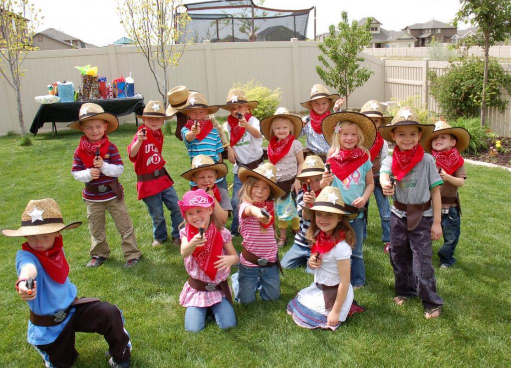 ковбойская вечеринка для детей