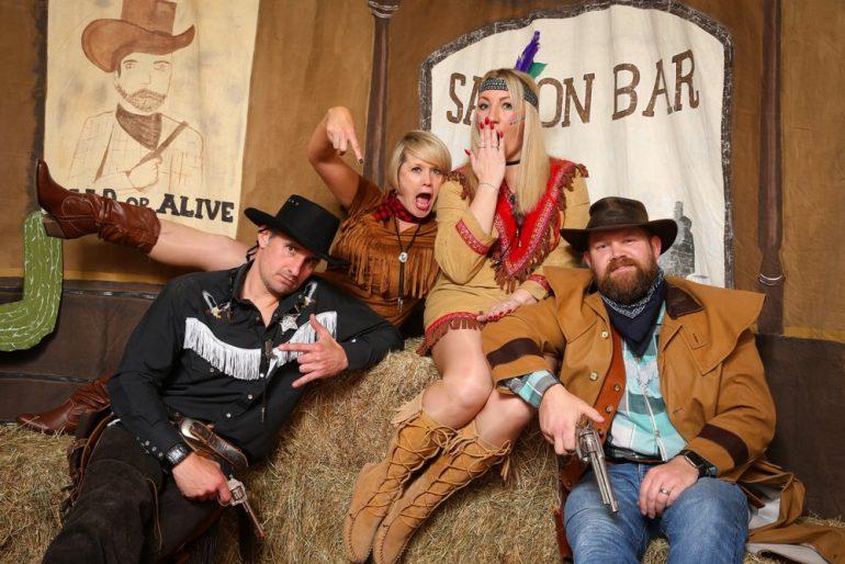 фотосессия на ковбойской вечеринке