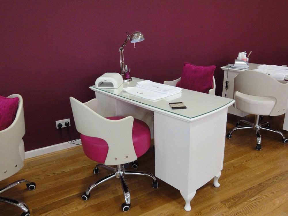 pink manicure cabinet