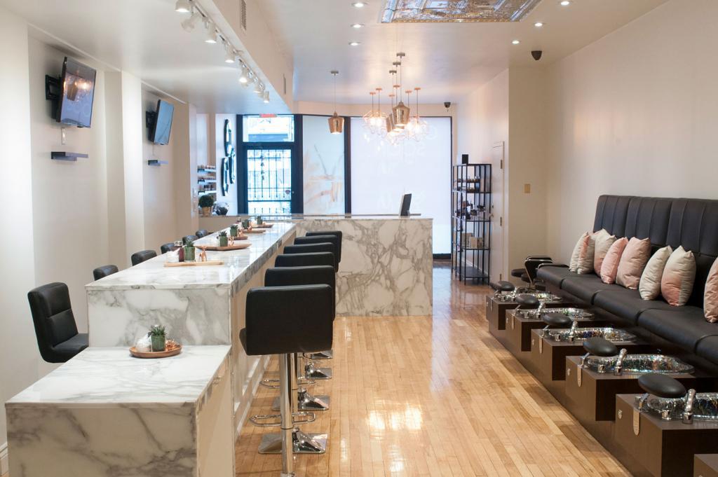 beautiful salon manicure