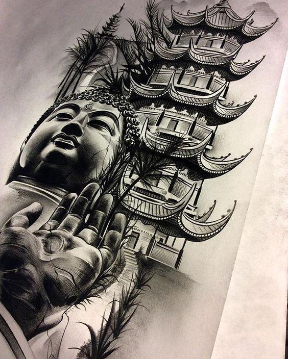 Будда, изображенный на тату